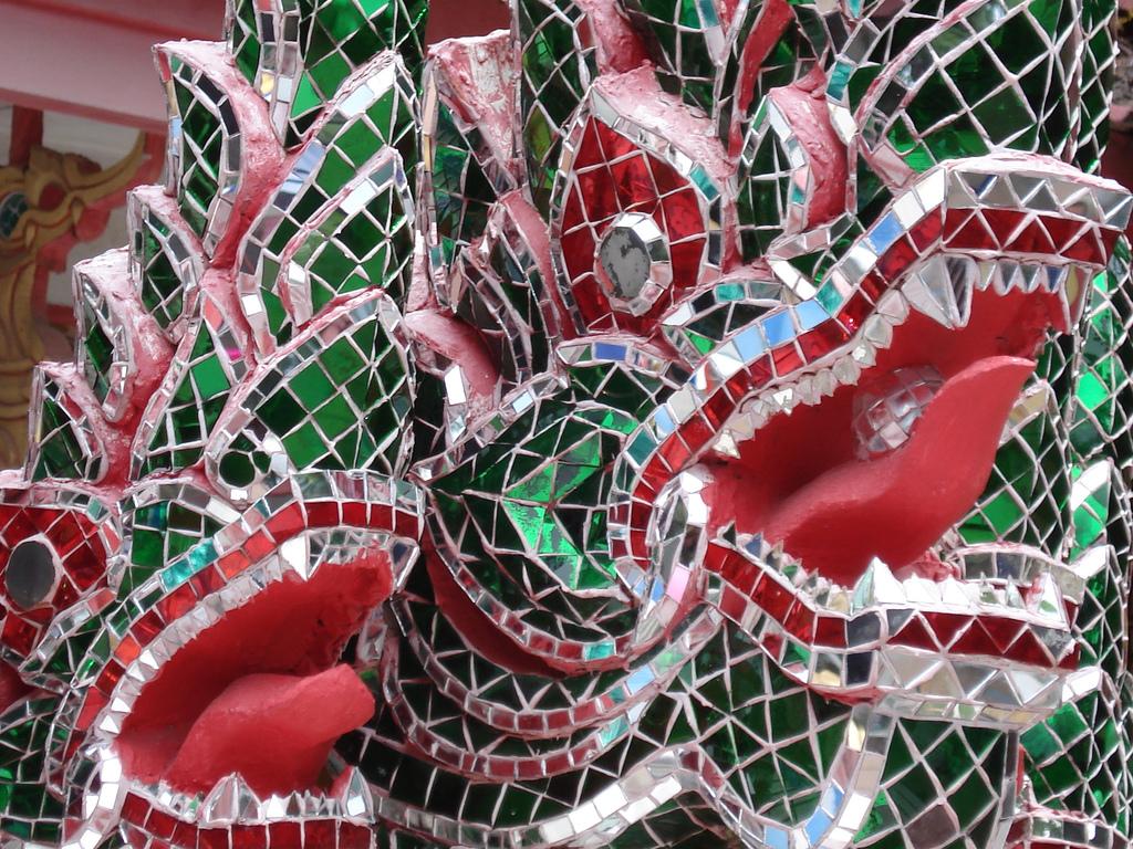 Mosaic of dragons in Koh Samui