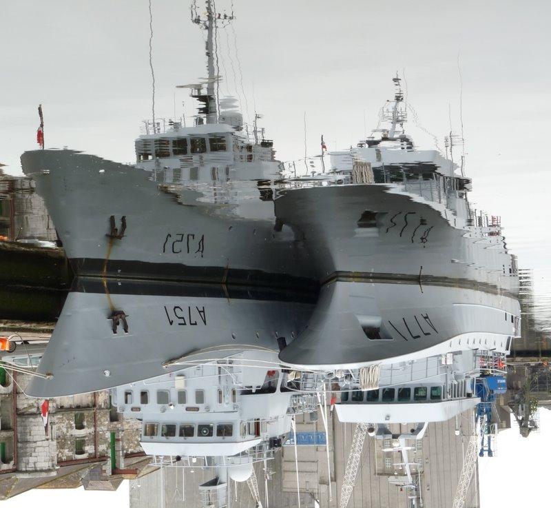 Navy ships docked at Cork city