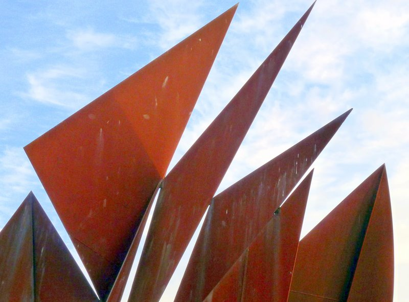 This sculpture in Eyre Square, Galway is of a Galway Hooker boat.