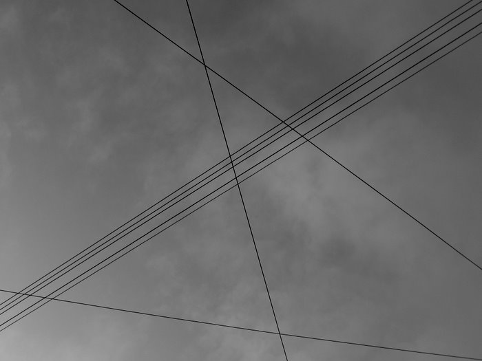 telegraph wires overhead