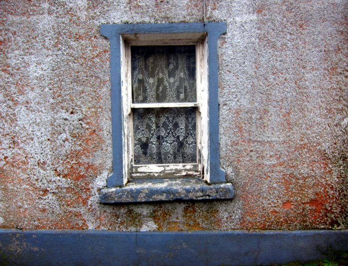 an old window in Galway, Ireland