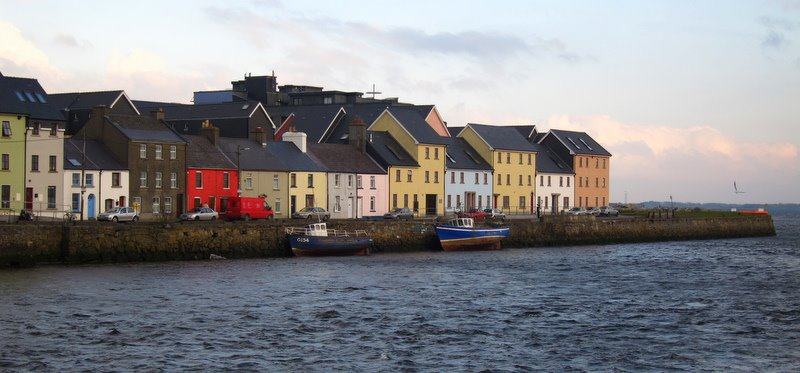 boats resting at low tide, Spanish Arch, Galway