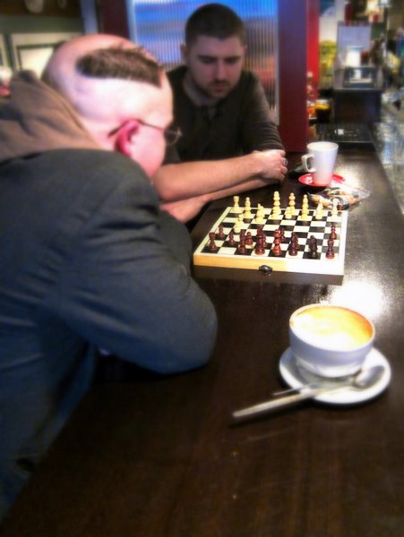 chess in the pub