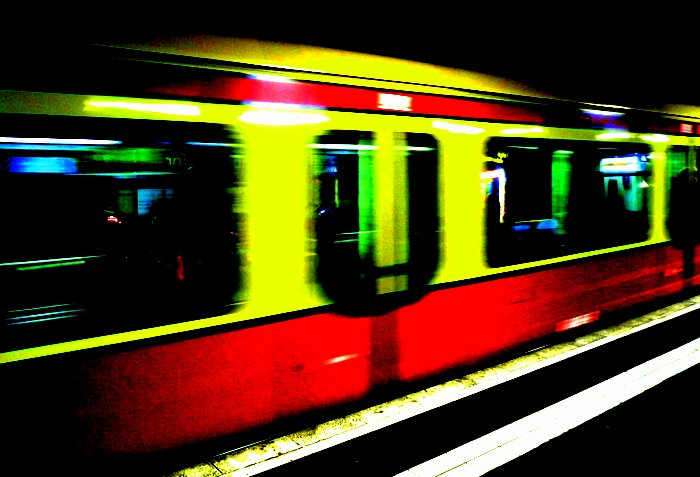 U Bahn train Berlin