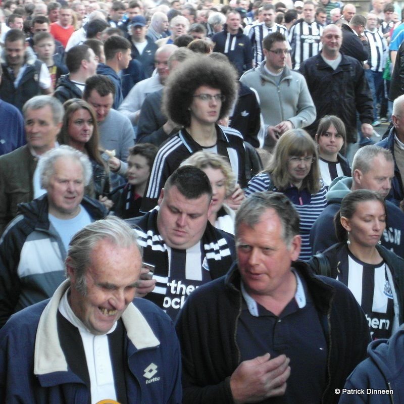 newcastle united big hair Hello, Hello, we are the Geordie boys