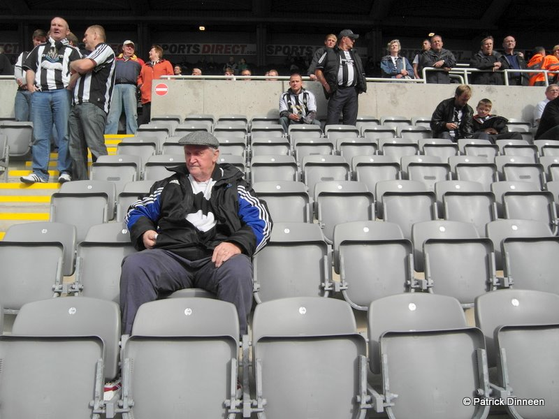 newcastle united old fan Hello, Hello, we are the Geordie boys