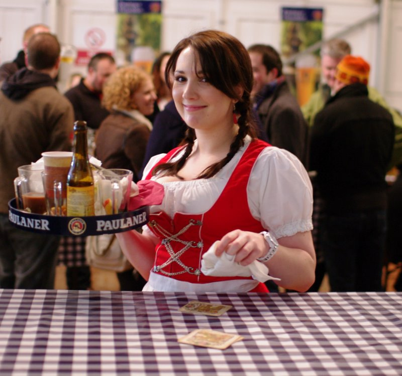 Galway Christmas Market Beer Waitress