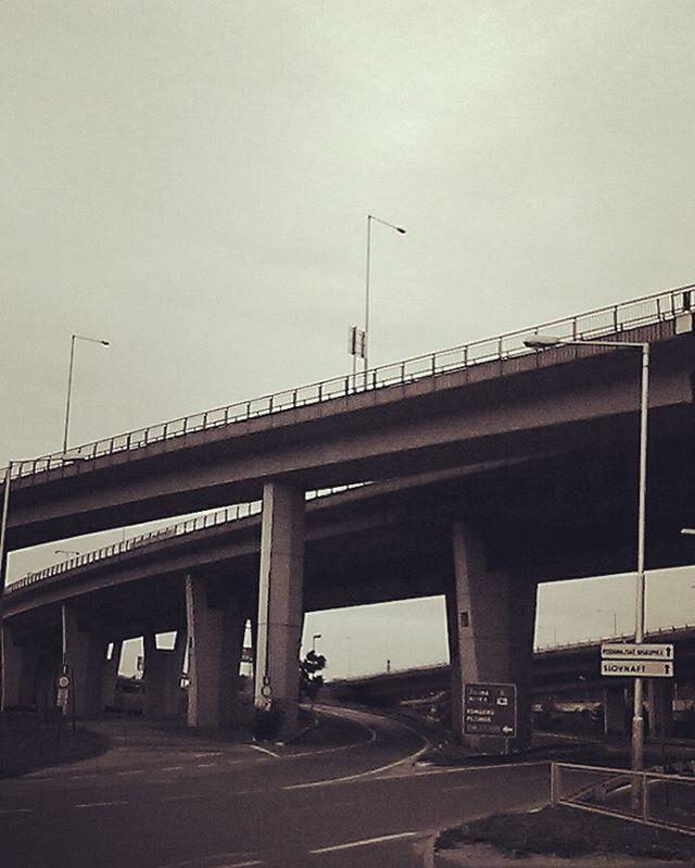 Bleak looking motorway overpass in Bratislava Slovakia bratislava motorway bleakhellip