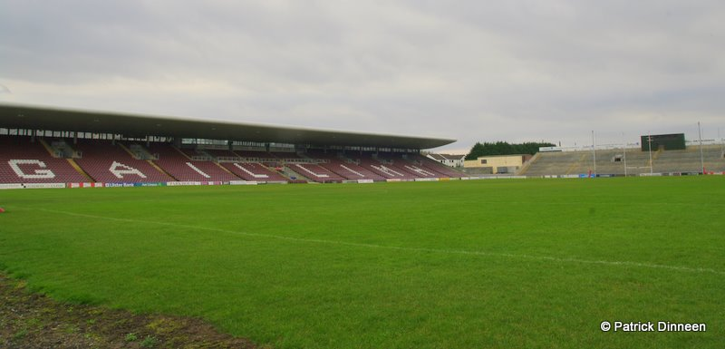 Galway GAA pitch stand Play It Low Into Joe ( Pearse Stadium Galway GAA )