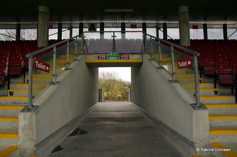 Pearse Stadium tunnel Play It Low Into Joe ( Pearse Stadium Galway GAA )