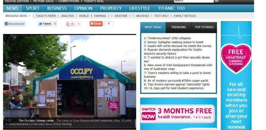 See Your Name in Neon, It's a Dream, 15 Minutes of Fame (Occupy Galway)