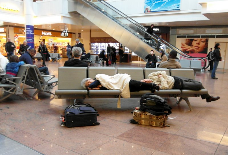 Brussels airport sleep