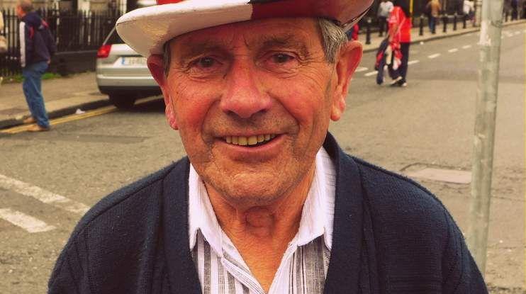 Cork hurlilng fan at GAA hurling final (Old Hat)