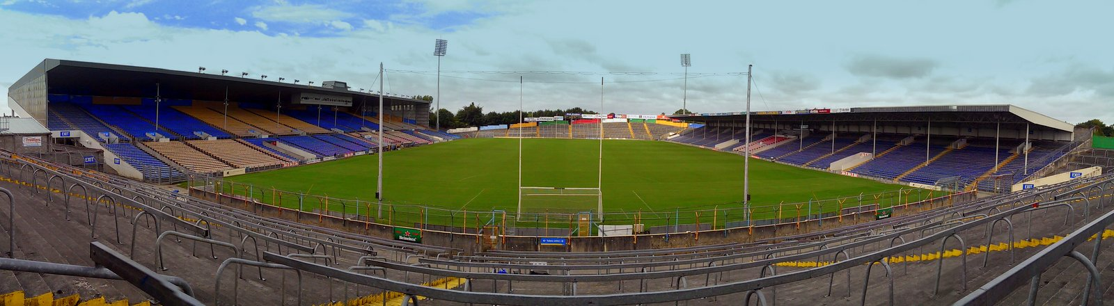 Semple Stadium panoramic view from Town End terrace