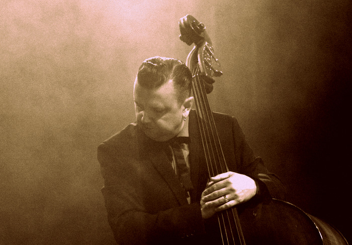 Al Gare on double bass