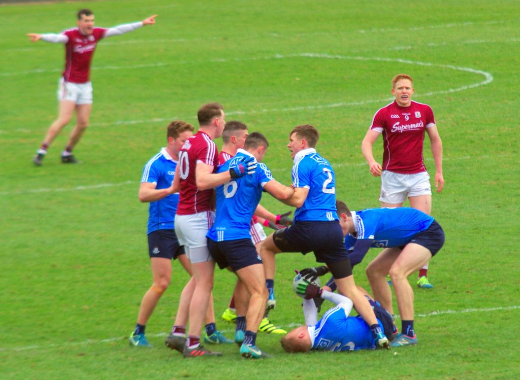 Galway Dublin GAA fighting